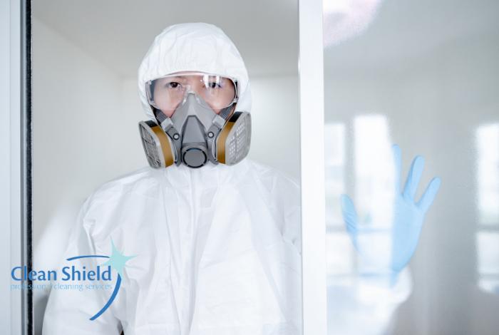 Clean Shield Blog Header September 2021 biohazard cleaning professional